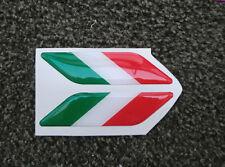ADESIVO STICKERS 3D ITALIA 2 PZ FLAG BANDIERA TRICOLORE FORD HONDA HYUNDAI OPEL