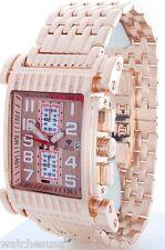 Aqua Master Stainless Steel Rose Gold Tone Men's Diamond Quartz Watch W#330