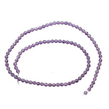 4MM AMETHYST FACETED ROUND NATURAL GEMSTONE BEADS 15""