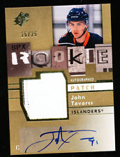 2009-10 UD SPX JOHN TAVARES PATCH AUTO 15/25 SPECTRUM ROOKIE RC