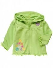 NWT~Gymboree BUTTERFLY BLOSSOMS green flower butterfly zip hoodie jacket~3-6