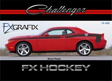 2008 - 2015 Dodge Challenger Hockey Style Body Stripe Kit 3M Quality Stripes