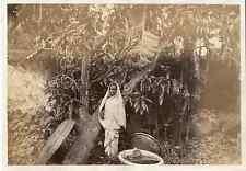 India, Femme, Scène de vie  Vintage albumen print Tirage albuminé  14X20
