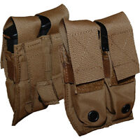 ATS Tactical MOLLE Double Pistol Mag Pouch-Multicam-Coyote-Ranger Green-Black
