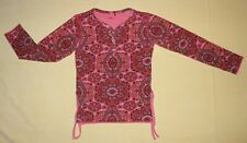 Oilily Ls Pink Krisp Top with Rose Snaps, sz 128/140