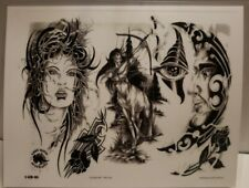 "Tattoo Centaur medusa 11"" × 8"" laminated copy tattoo ideas y4"