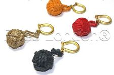 Nautical Keyring chain- Monkey Fist Key Fob with Brass Shackle- 4 for £4