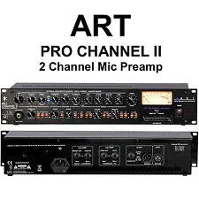 ART PRO CHANNEL II 2 CHANNEL RACKMOUNT MIC PREAMP $15 INSTANT OFF LIVE STUDIO DJ