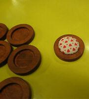 10pcs 15mm inner Antique Wooden Wood Cameo Cabochon Base Setting / Tray / Bezel