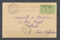 1901 Lettre Villefranque/Bses Pyrénées type 84 obl. Sage 5c. Paire, SUP X3978