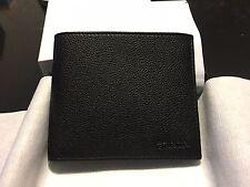 NWT Prada Grained Calf Leather Wallet Nero Black 2MO513