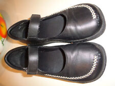Aldo Black Leather Mary Jane Shoes w/ Thick Soles Hardly Worn 6.5M Stitching