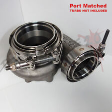 V-BAND INLET/OUTLET FLANGE + CLAMP SET FOR PRECISION PTE TURBOS 304 STAINLESS