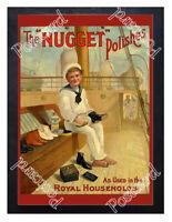 Historic Nugget boot polish, 1900. Advertising Postcard