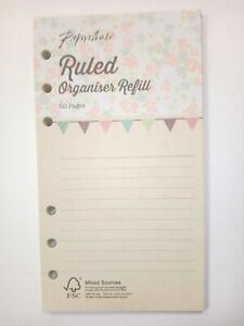 PERSONAL Ruled Organiser Refill mid size planner compatible with Filofax