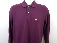 Brooks Brothers NEW Maroon Performance Polo Long Sleeve S Small Slim Fit w/ Logo