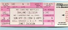 1990 Janet Jackson unbenutzt Full Concert Ticket Rhythm Nation Tour Oakland ca
