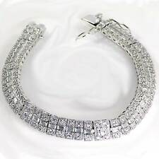 "ALL CLEAR BRILLIANT CZ TENNIS BRACELET_SIZE 8""_NICKEL FREE 925 STERLING SILVER"