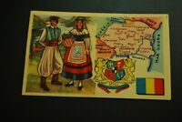 Vintage Cigarettes Card.  ROMANIA. REGIONS OF THE WORLD COLLECTION