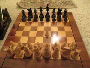 "Vintage Allan Troy Chess Set-Troy ""Punjab"" HANDMADE, PINNEY HOMAGE, DRUEKE BOARD"