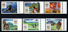 PHILIPPINES 1988 Complete Olympic Games Set Imperf SG 2091 to SG 2096 MNH