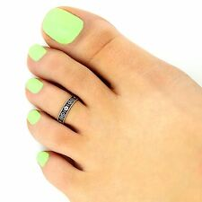 Sterling silver toe ring Tribal design adjustable toe ring (T-133)