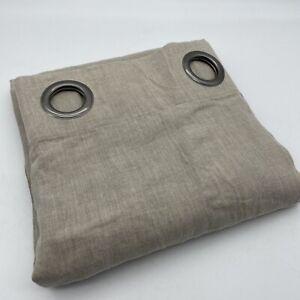 New Onega 100% Linen Curtain 220cm Natural Beige SINGLE Door Eyelet