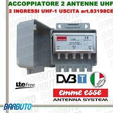 MISCELATORE DA PALO A DUE INGRESSI UHF + UHF PER DUE ANTENNE 83198CE  EMMEESSE