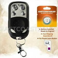 For Chamberlain 371LM 373LM 374LM Button Garage Door Opener Remote Keychain