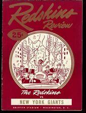 EX COND 10/12/1947 Giants at Redskins reg. season NFL game program - Baugh 3 TDs
