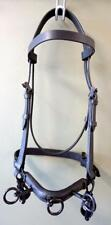 Supple FULL BLACK ECONOMY Cavesson Bridle Bitless Lunging Riding Training-3 Ring