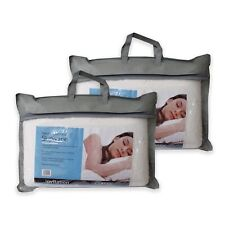 Twin Pack of Natural Latex Pillows with Removable Cover by Invitation