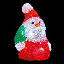 LED Battery Light up Acrylic Christmas Decoration - 18cm Santa