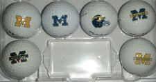 (NCAA Michigan Wolverines Logos ) AAAAA /MINT Prov/Provx Used Golf Balls