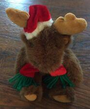 "PBC International Inc. Christmas Moose Plush 6"""