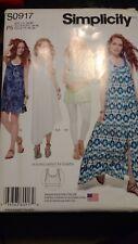 S0917 P5 SimplicityTank Dress Length Vary Tunic Knit Bralette Pattern Size 12-20