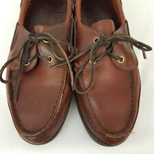 ae5456c1a1168 Sebago Womens Boat Shoes SZ 9.5 Old Town Brown Slip On Leather Comfort Flats