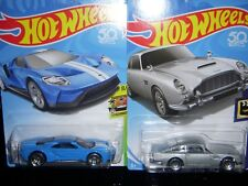 Hot Wheels Ford GT40 and Aston Martin DB5 New
