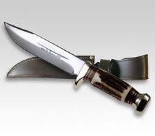 "LINDER GERMAN BIG WESTERN CLASSIC KNIFE / STAG HANDLE / 7.09"" BLADE ** NEW **"