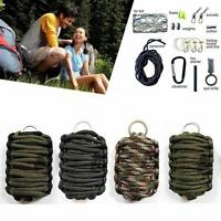 Portable Survival Paracord Survival Pod Kit Fishing Hunting Tool Kit Camping MT