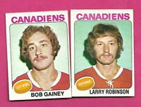 1975-76 OPC CANADIENS LARRY ROBINSON + BOB GAINEY 2ND YEAR CARD  (INV# D2546)