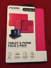 INCIPIO Tablet and Phone Folio 2-pack for the ASUS Padfone X - Pink - Retail $70