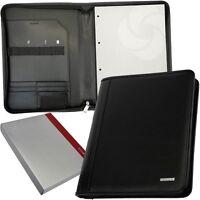 SAMSONITE - RV - A4 Schreibmappe Tablet Konferenz Reißverschluss-Mappe Leder NEU