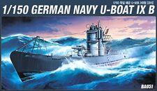 Academy German Navy U-Boat IXB RE-280 14203 Motor 1/150 Include Model Kit NIB