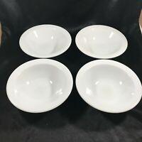 Set of 4 Vintage REGO Restaurant Ware Fine Porcelain White Bowls