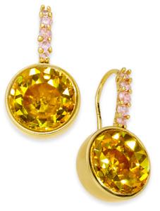 Kate Spade New York Reflecting Pool Gold-Tone Crystal Drop Earrings Yellow Multi
