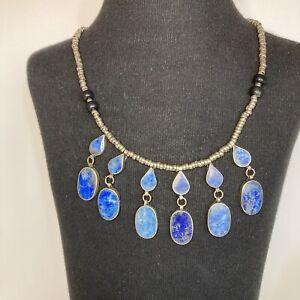 Lapis Lazuli Kuchi Tribal Statement Necklace