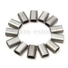 50 PCS Cable Crimps Stainless Steel Sleeve for 1/16'' Diameter Wire Rope US