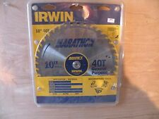 Irwin Marathon 40 Tooth 10 Inch General Purpose Saw Blade New In Package