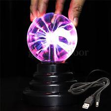 USB Magic Crystal Globe Desktop Light Lightning Lamp Plasma Ball Sphere New US